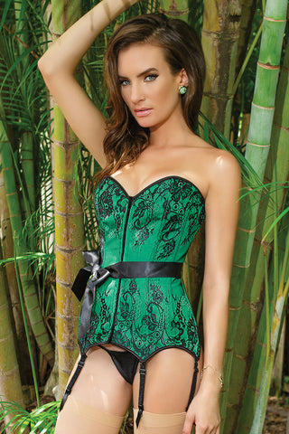 Rene Rofe Crotchless Net Suspender Bodystocking
