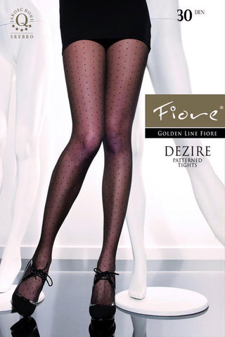 Fiore HUSH-HUSH 20 Den Pantyhose with Applique on the Back