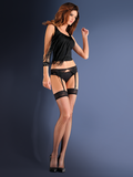 Gabriella Erotica Garter Set Blue Night Stockings