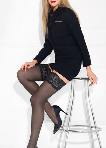 LE BOURGET RETRO 20 DENIER Thigh Highs