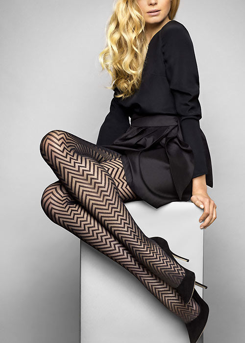 Le Bourget Heritage Luxe Chevron Pantyhose