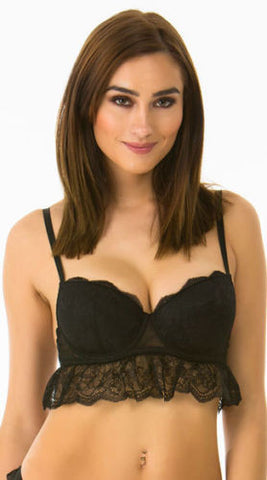 Rene Rofe Sheer Dot Babydoll & Thong Set
