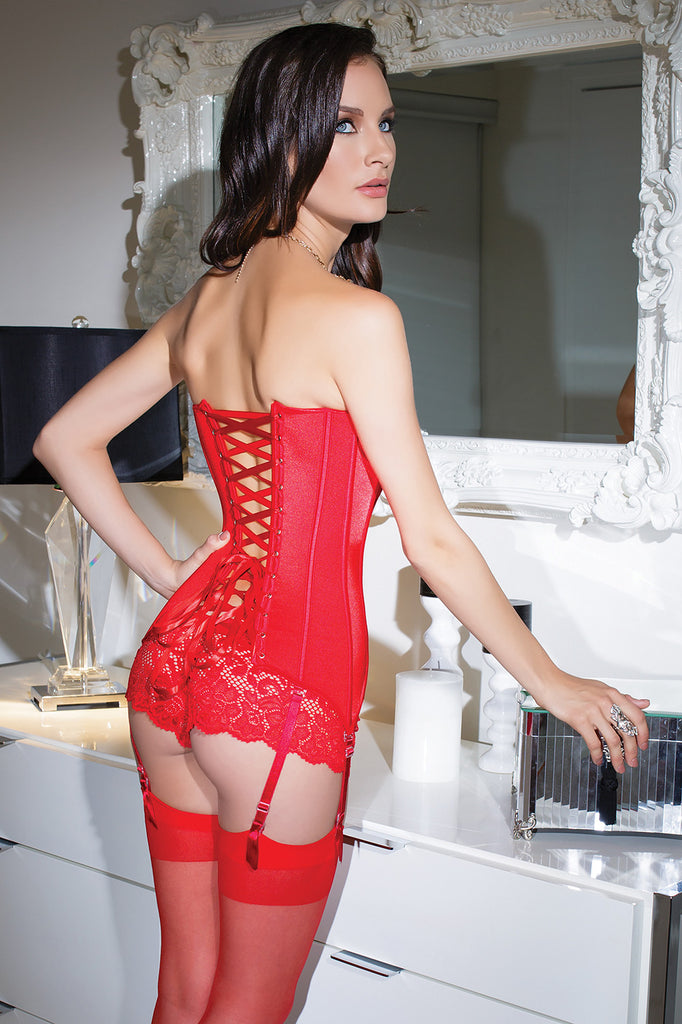 COQUETTE 3728 CORSET with Front Zipper