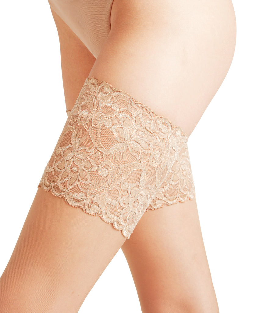 FALKE Seidenglatt 15 Thick Lace Thigh Highs