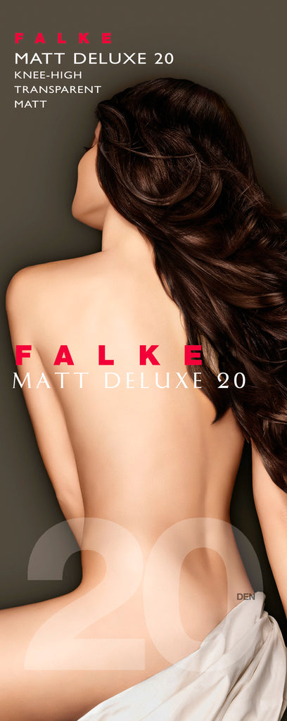 FALKE Pure Matt Deluxe 20 Knee Highs