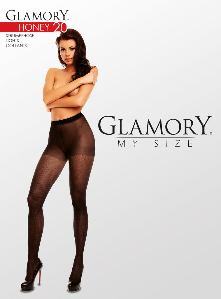 Glamory My Size Honey 20 Den Pattern Pantyhose