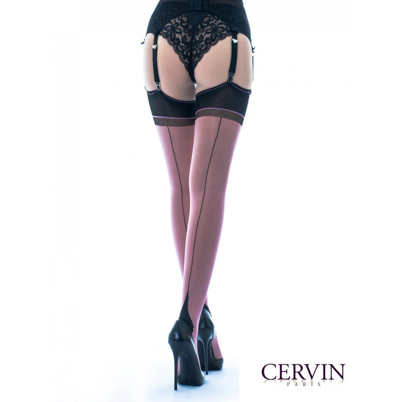 Cervin SEDUCTION BICOLOUR SEAM Non-stretch Thigh Highs