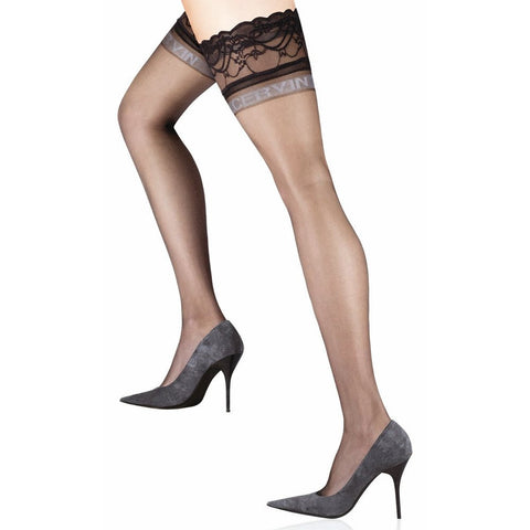 JONATHAN ASTON Vintage Legs Backseam & HEEL Thigh Highs