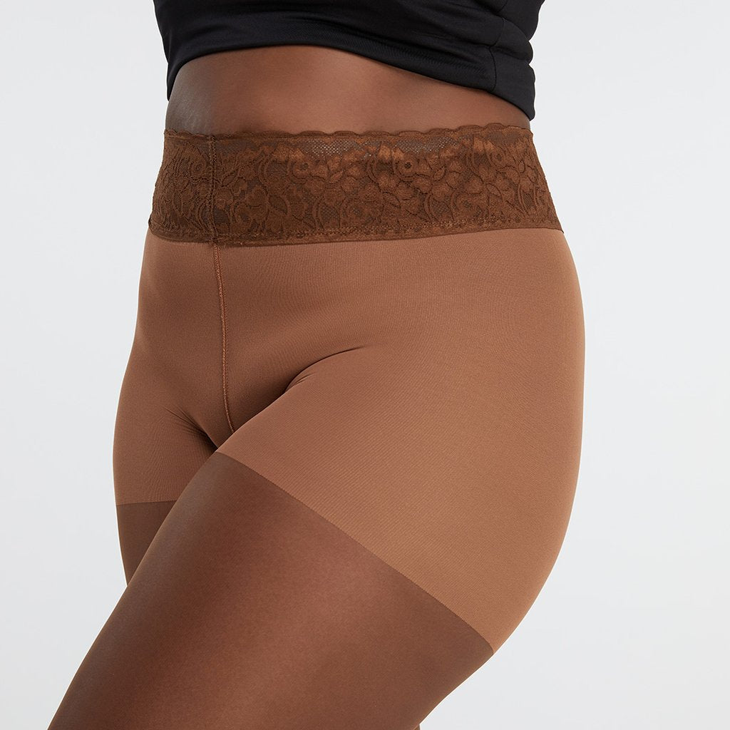 Hipstik Coffee Nude Sheer Comfort Top Pantyhose