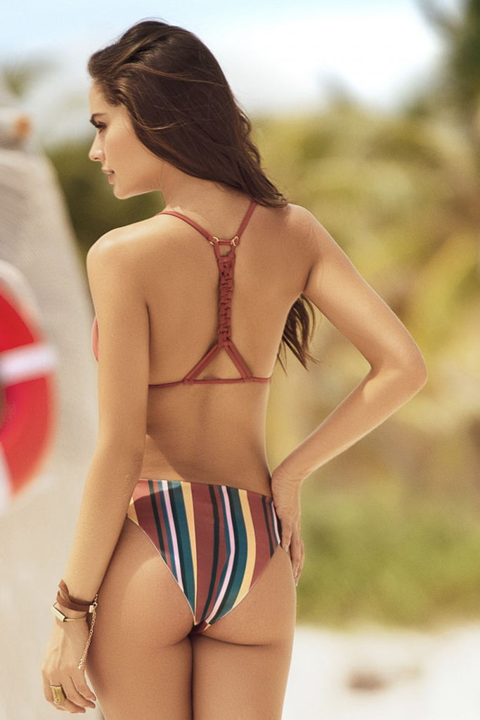 Mapale 6506 Bikini Color Desert Dusk Stripes-Terracotta