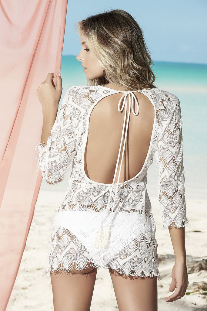 Mapale 7835 Cover-Up Beach Dress Color Ivory