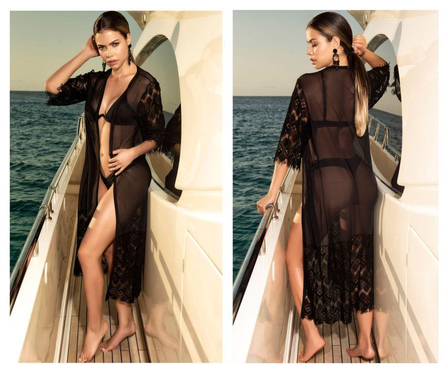 Mapale 7916 Cover Up Kimono Color Black