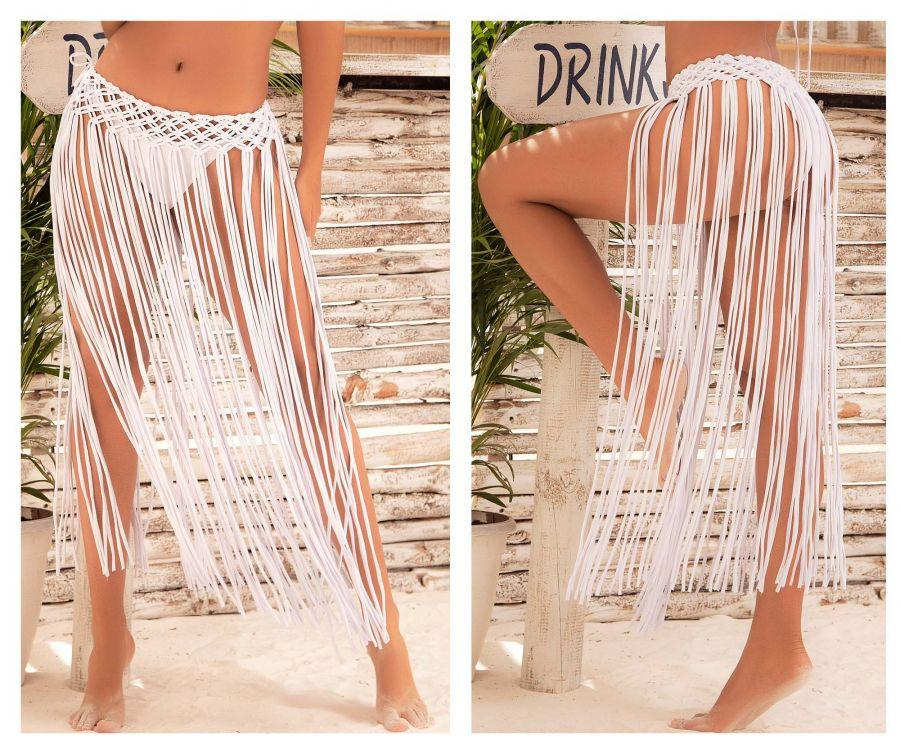 Mapale 7924 Cover Up Skirt Color White