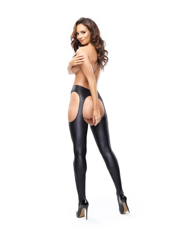 Misso Wet Look Gloss Strip Panty Pantyhose SP800-Pink and Gold coming soon