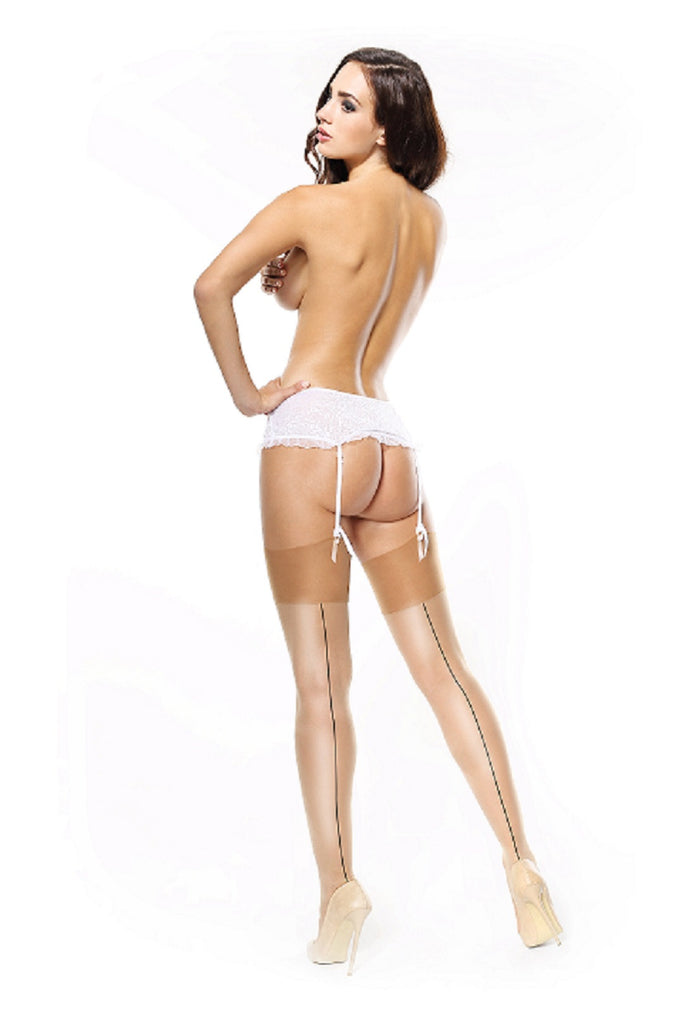 MissO Silky Stockings with Backseam S111
