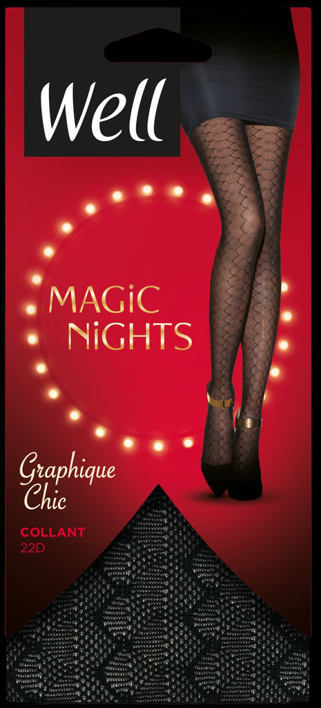 Well Magic Nights Graphique Chic Pantyhose