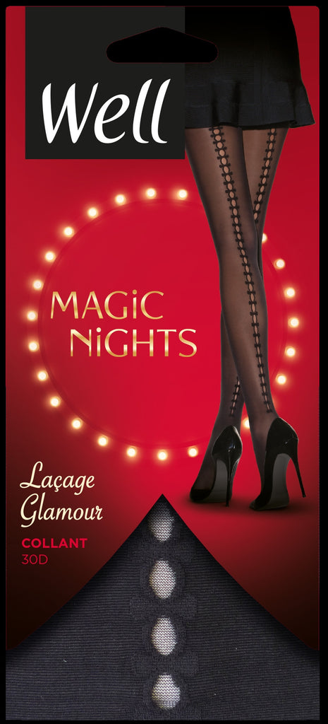 Well Magic Nights Lacage Glamour Pantyhose