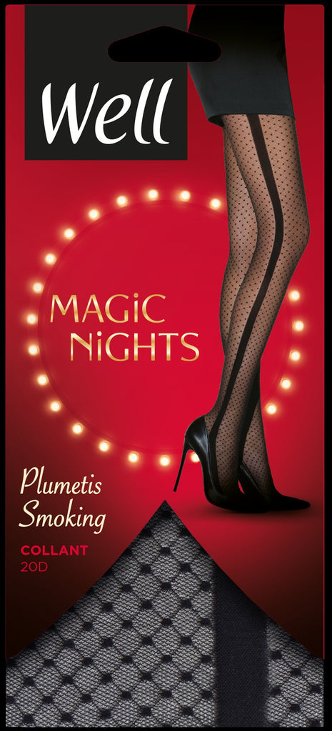 Well Magic Nights Plumetis Smoking Pantyhose