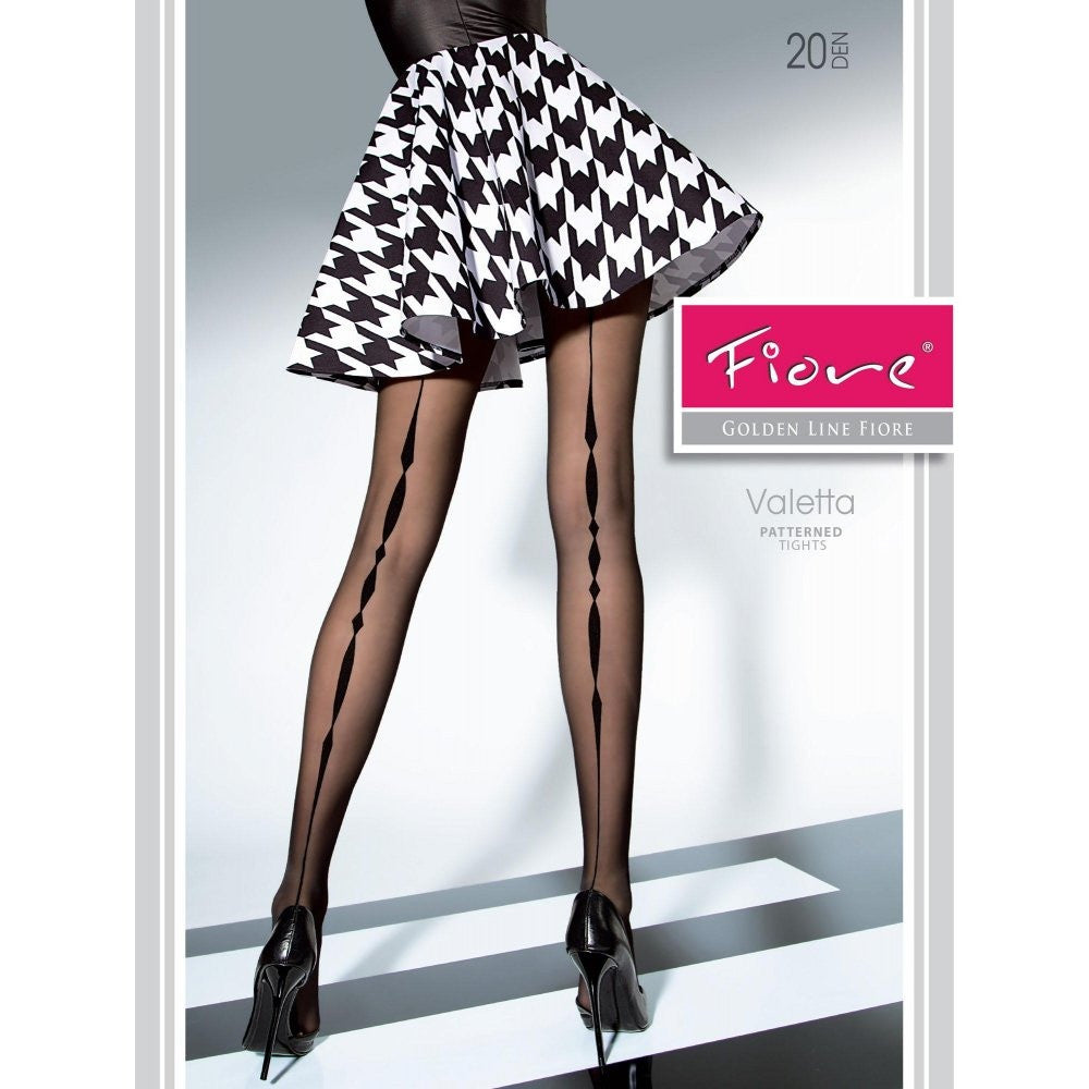 Fiore VALETTA 20 Den Back Patterned Pantyhose