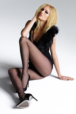 JONATHAN ASTON Vintage Legs Fishnet Backseam Thigh Highs