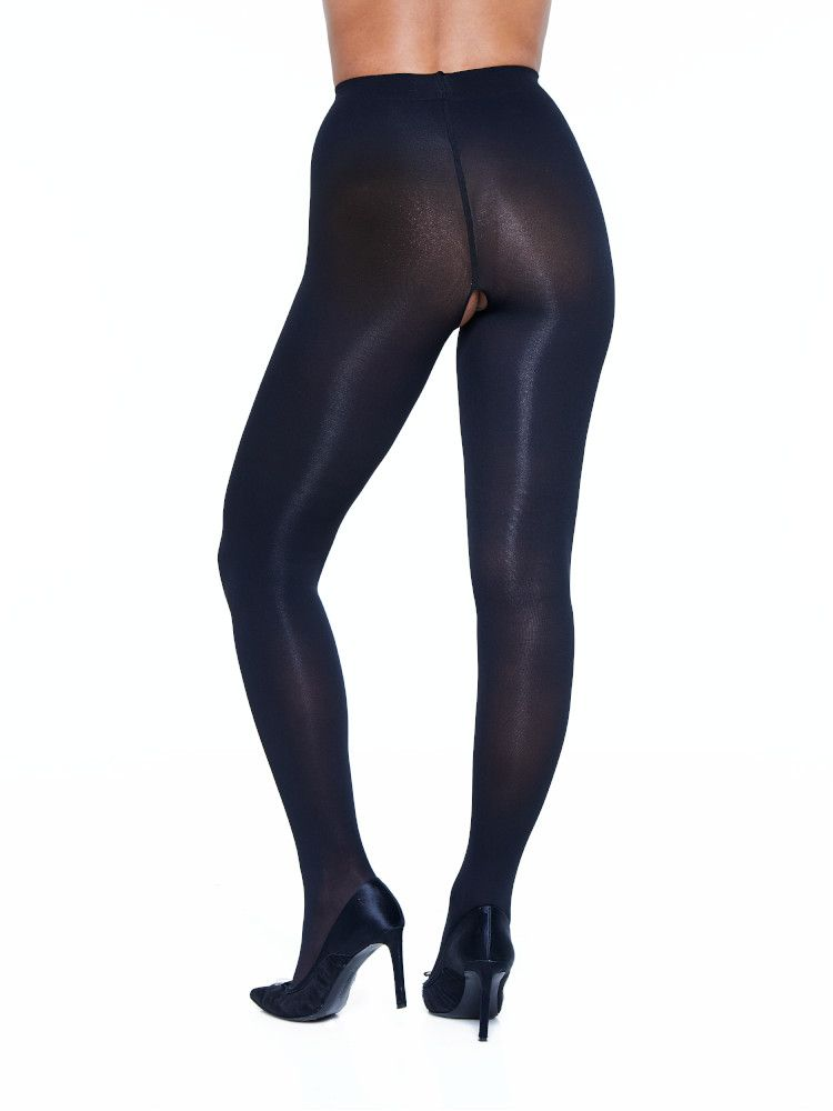 Miss Naughty 50 Den Crotchless Opaque Pantyhose