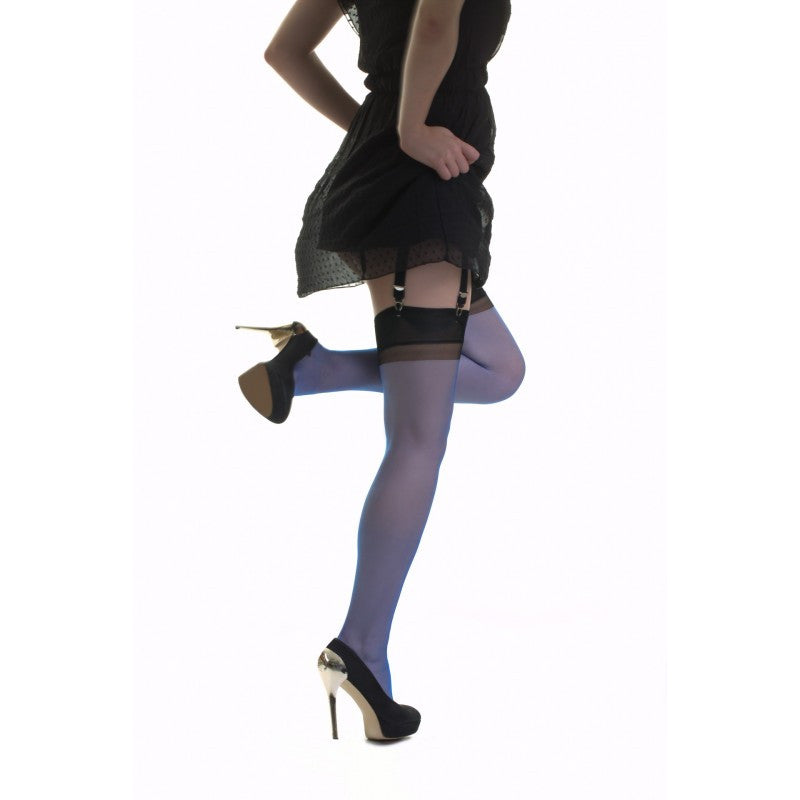 Gio Stockings RHT Full Contrast 15 Den Bicolor Non-Stretch