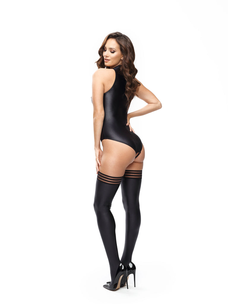 Misso Wet Look Gloss Thigh Highs S806