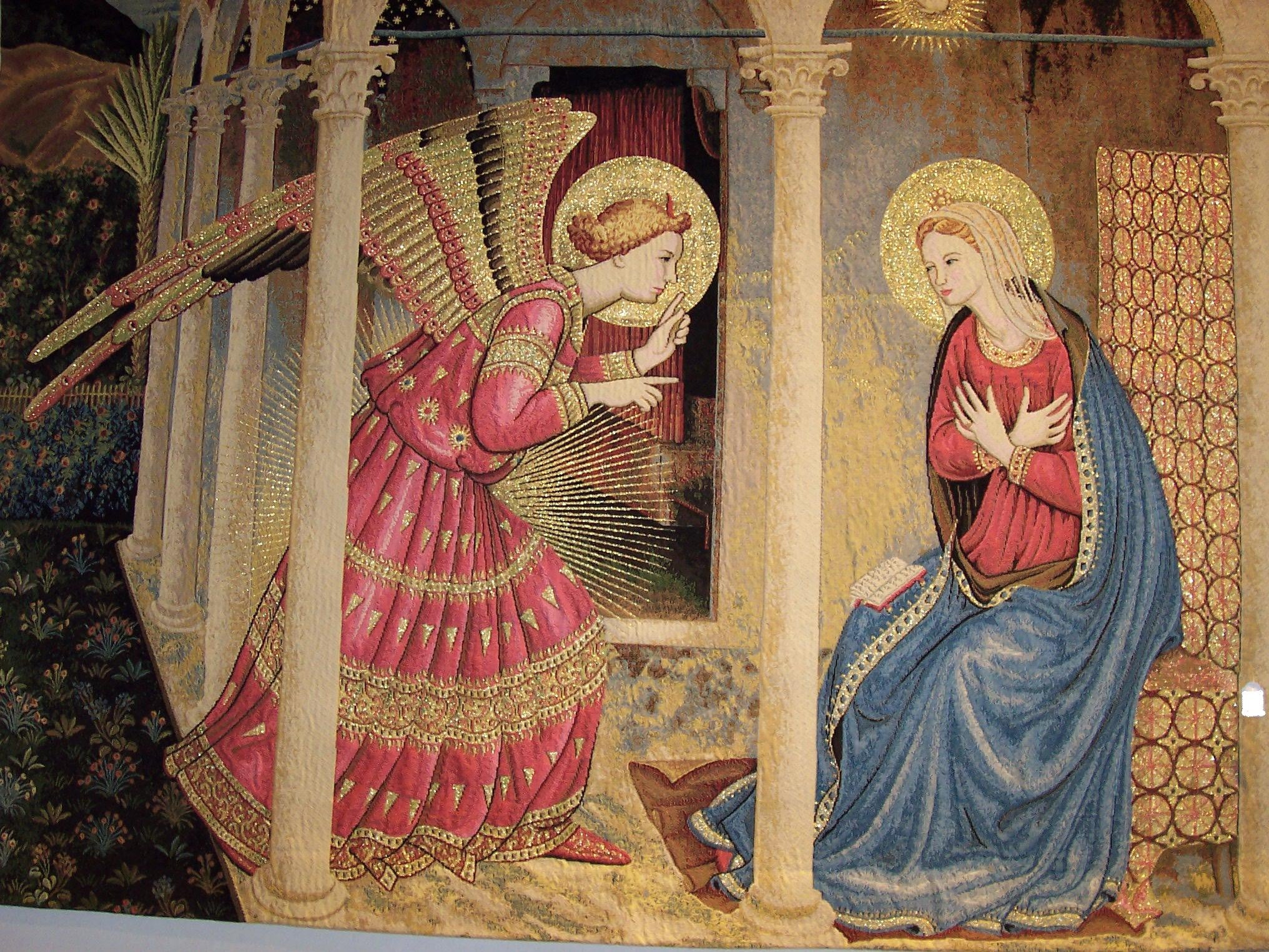annunciation wall tapestry tapestry siena