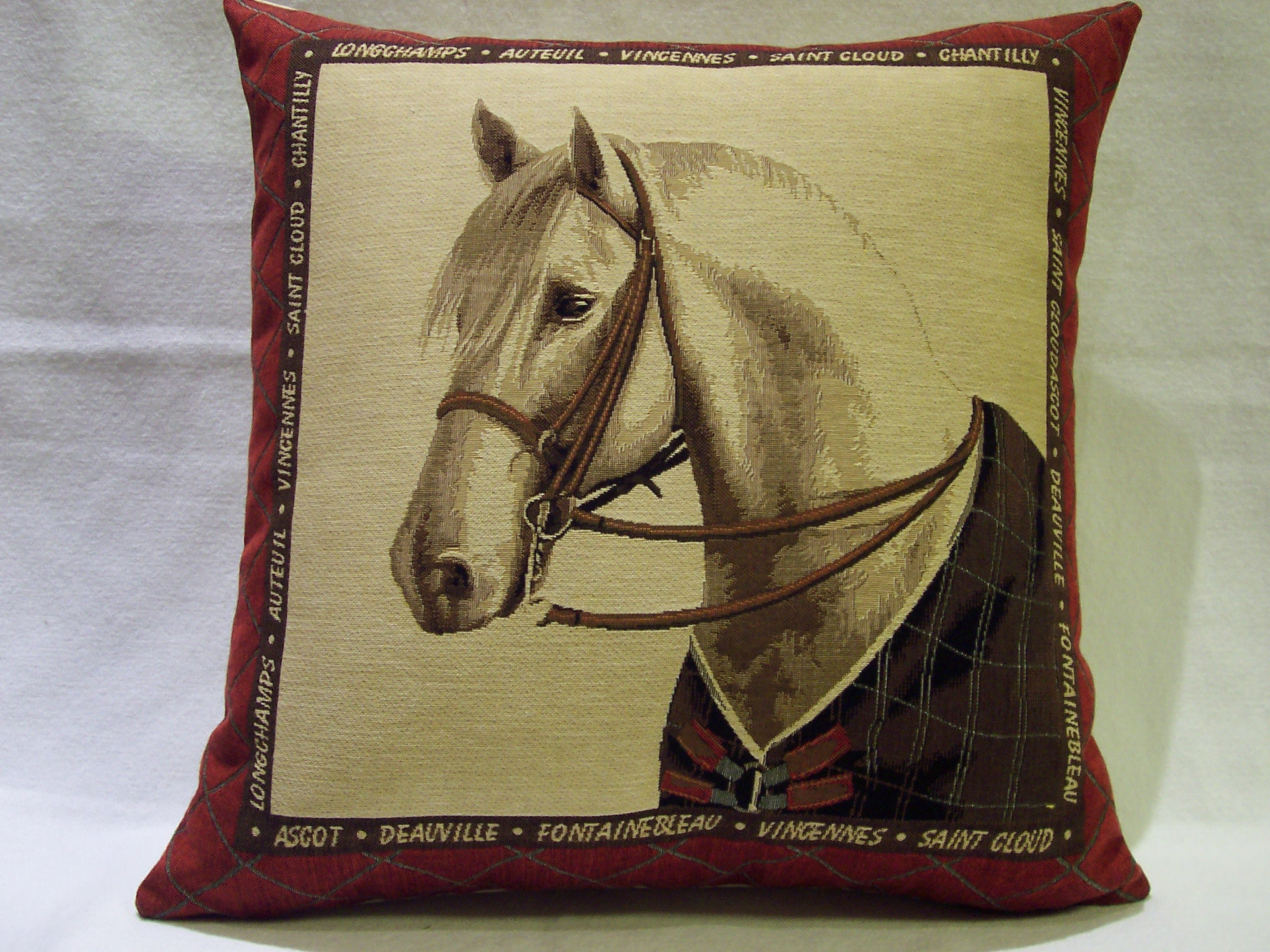 decorative nordicos item living cojines print artistry cotton linen home car new case horse decor room in cover pillow from cushion