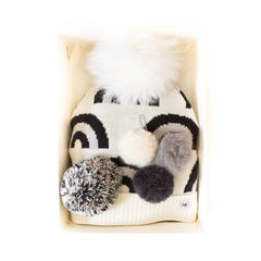 Hat Bizarre - GIFT BOX - Brainbows In Monochrome - Bobble Hat