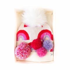 Hat Bizarre - GIFT BOX - Brainbows In Pink - Bobble Hat