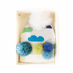 Hat Bizarre - GIFT BOX - Head In The Clouds In Green - Bobble Hat