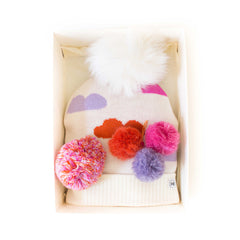 Hat Bizarre - GIFT BOX - Head In The Clouds In Pink - Bobble Hat