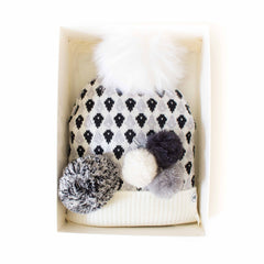 Hat Bizarre - GIFT BOX - Molecules In Monochrome - Bobble Hat
