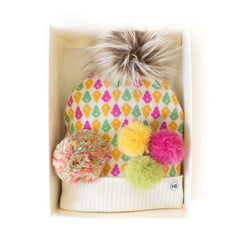 Hat Bizarre - GIFT BOX - Molecules In Pink - Bobble Hat