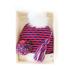 Hat Bizarre - GIFT BOX - Pythagoras In Red - Bobble Hat