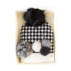 Hat Bizarre - GIFT BOX - Scales In Monochrome - Bobble Hat