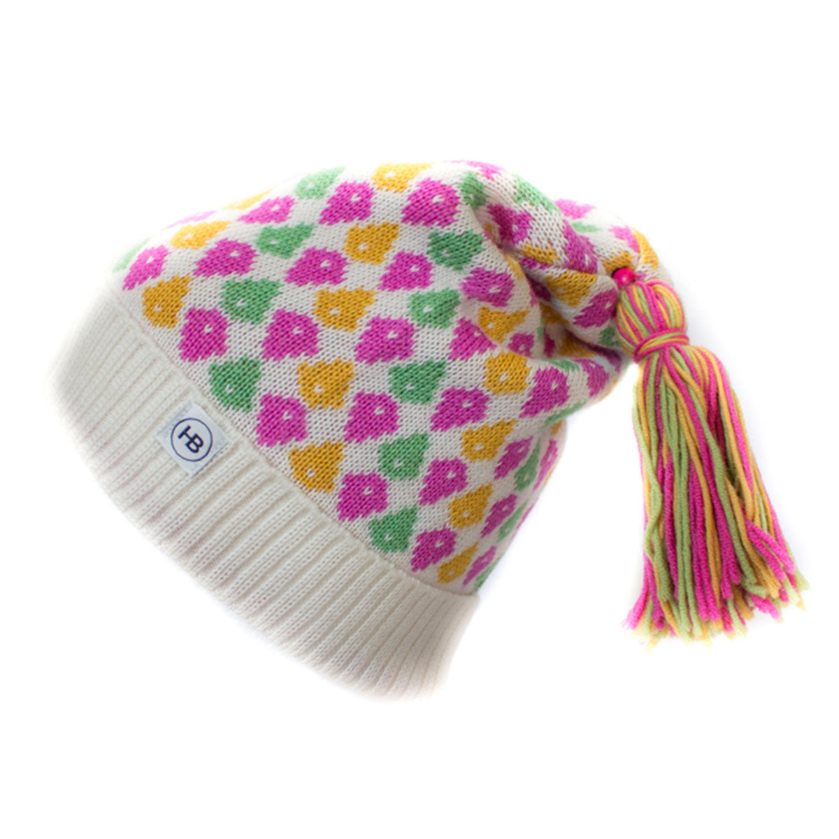 Hat Bizarre - MOLECULES IN PINK - Bobble Hat