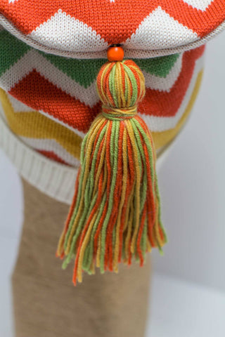 Hat Bizarre - Bobbles - TASSEL | YELLOW-ORANGE-GREEN