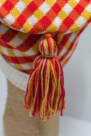 Hat Bizarre - Bobbles - TASSEL | RED-ORANGE-YELLOW