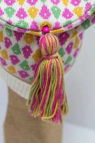 Hat Bizarre - Bobbles - TASSEL | YELLOW-PINK-GREEN