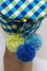 Hat Bizarre - Bobbles - TIDDLY POMS | BLUE-GREEN-TURQUOISE - 1
