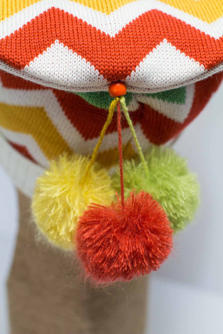 Hat Bizarre - Bobbles - TIDDLY POMS | ORANGE-YELLOW-GREEN