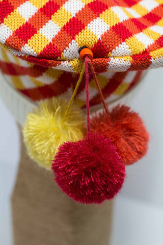Hat Bizarre - Bobbles - TIDDLY POMS | RED-ORANGE-YELLOW