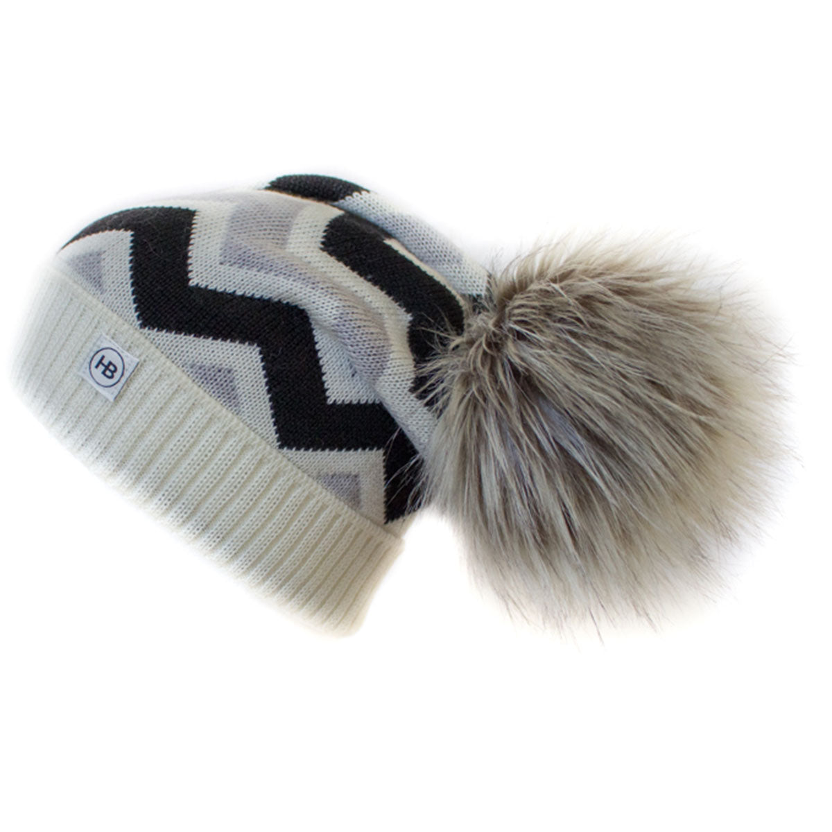 Hat Bizarre - WAVY IN MONOCHROME - Bobble Hat