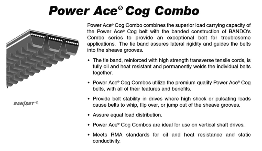2-3VX1180  Power Ace Cog Combo