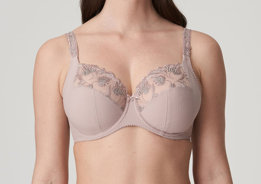 A full cup Prima Donna bra on sale. Amazing support and shape. A great everyday bra. Color Patine. Style 0163001.