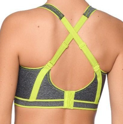 This Prima Donna sports bra is all the quality of Prima Donna for your exercise. Color Cosmic Grey. Style 6000110.