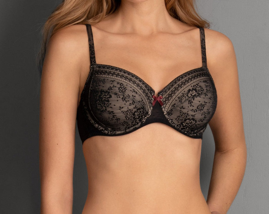 A Rosa Faia bra by Anita, a beautiful bra with superior support on sale. Color Black. Style 5653.