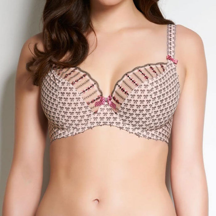 Beau by Freya, a plunge bra cut in a flattering low front shape and built on a base with an elastic underband for superior support. Style 1101.
